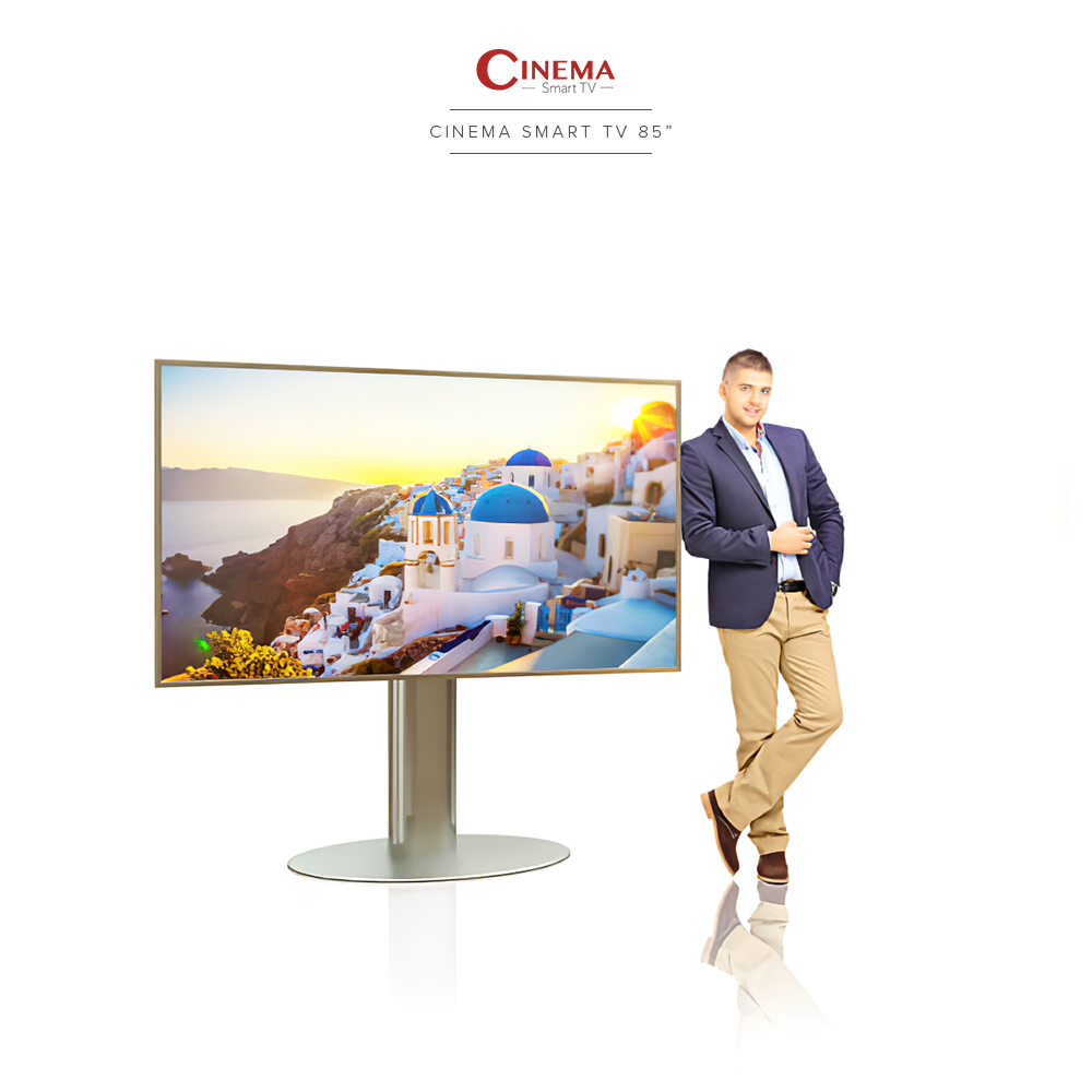 Cinema smart TV with 4K ultra high definition resolution.