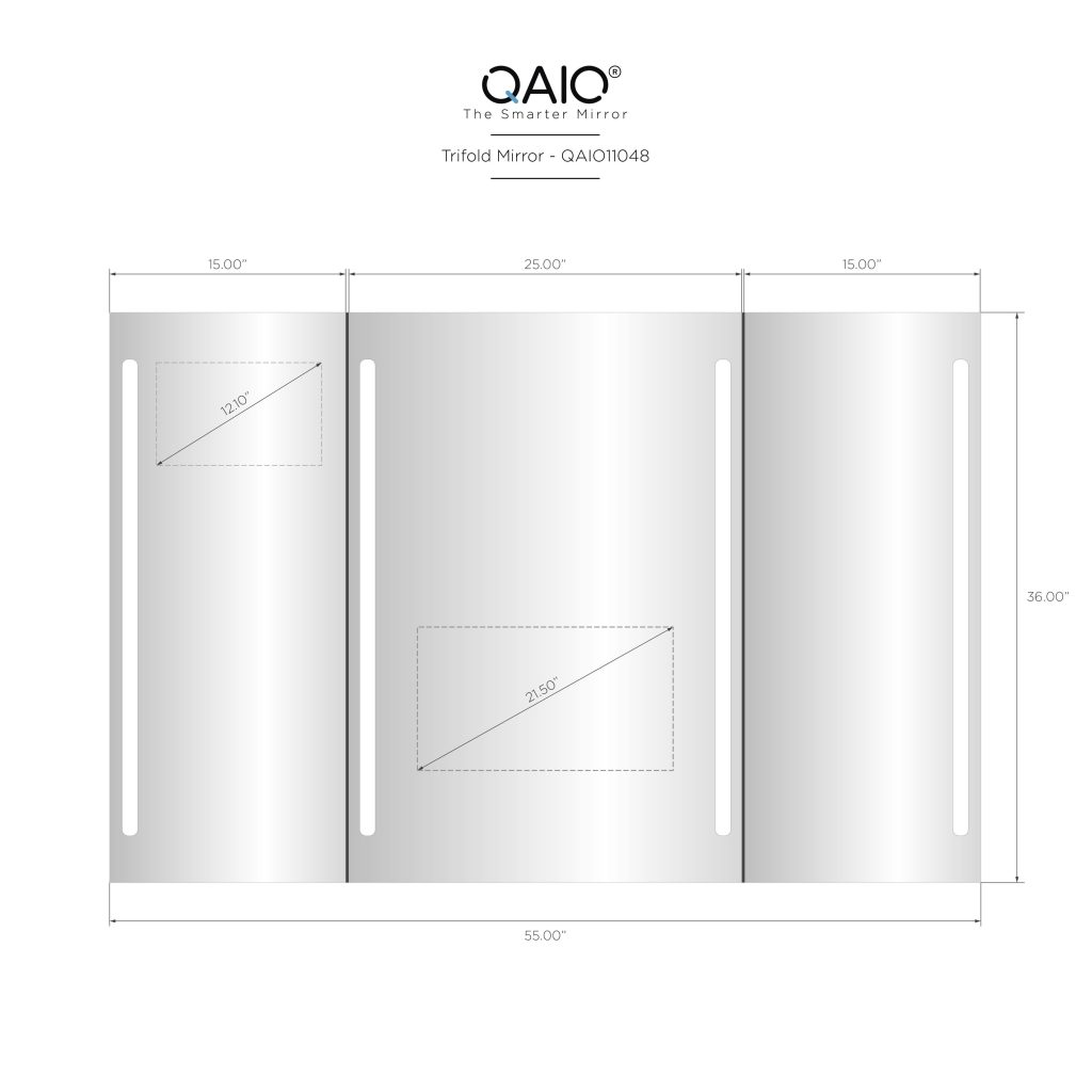 "QAIO Trifold, 140cm wide x 90cm high, with 22"" TV (QAIO11008)"