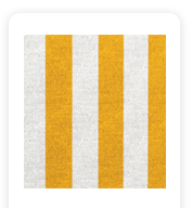 Neoprene Cover – Yellow and White Stripes (COSNC-100-STRYellow)
