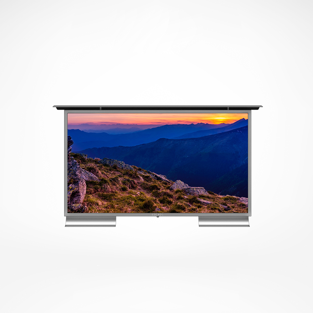 Outdoor TV with built-in high quality speakers for great audio.