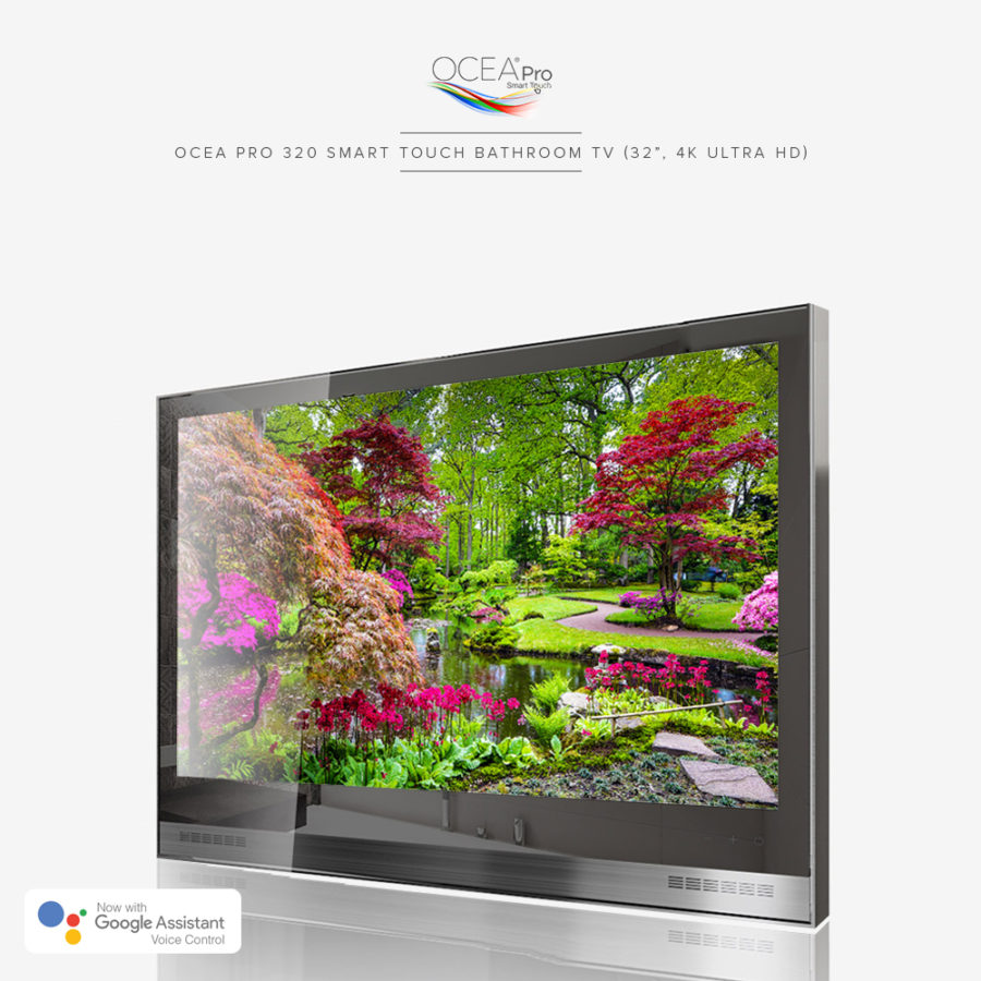 Smart bathroom TV equipped with the latest Android.