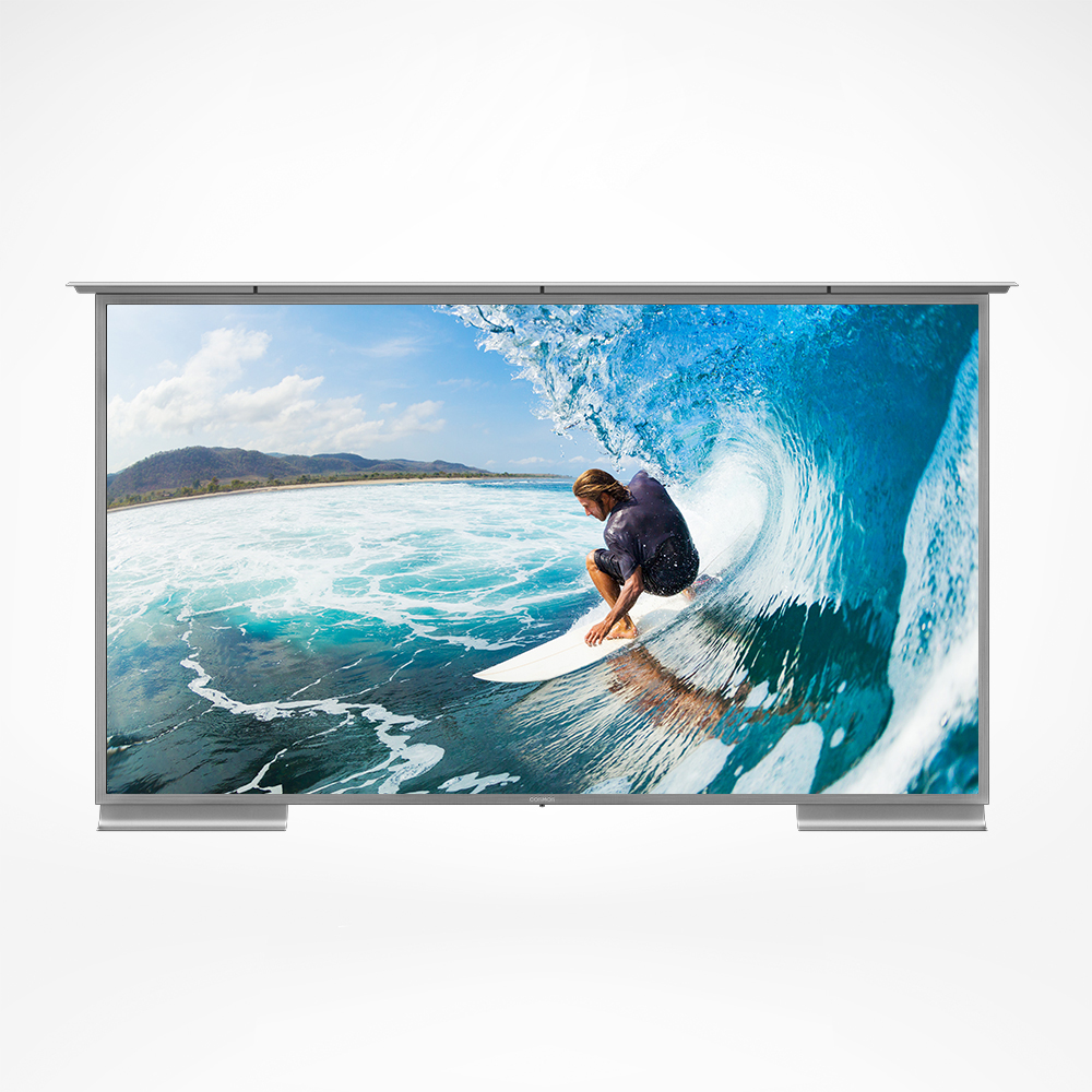 Stainless steel 4K high definition resolution outdoor TV.