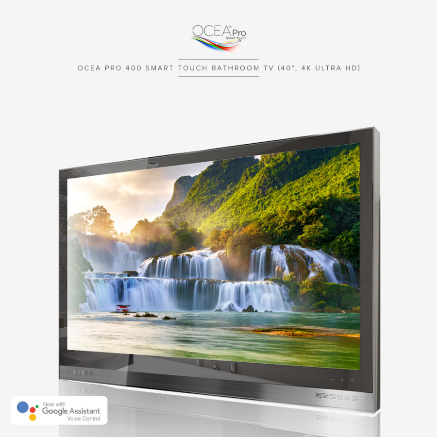 Versatile bathroom TV that can be installed anywhere where there is water or moisture.